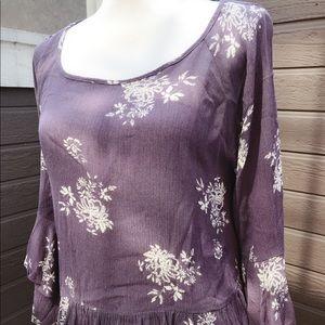 Socialite purple long sleeve top